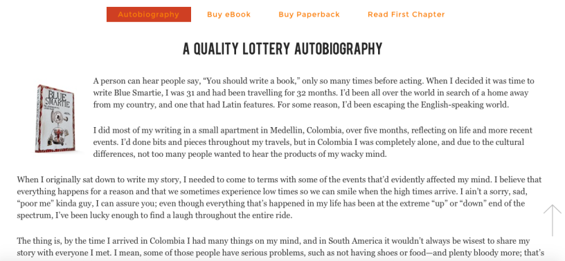 A Quality Lottery Autobiography (free first chapter) – Gaston Cavalleri